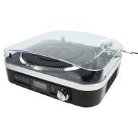 Skivspelare TT25USB + Media Recorder, med inbyggd högtalare + USB + SD + FM-Radio